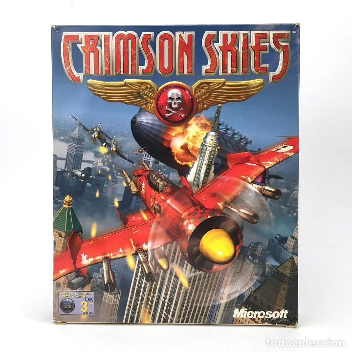 CRIMSON SKIES INCOMPLETO MICROSOFT EDICION ESPAÑOLA AÑO 2000. ARCADE FLIGHT SIMULATOR IBM PC CD ROM (Juguetes - Videojuegos y Consolas - PC)