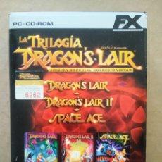 Videojuegos y Consolas: JUEGO PC FX INTERACTIVE LA TRILOGÍA DRAGON'S LAIR: I/LA MÁQUINA DEL TIEMPO/SPACE ACE. DON BLUTH.. Lote 242399500