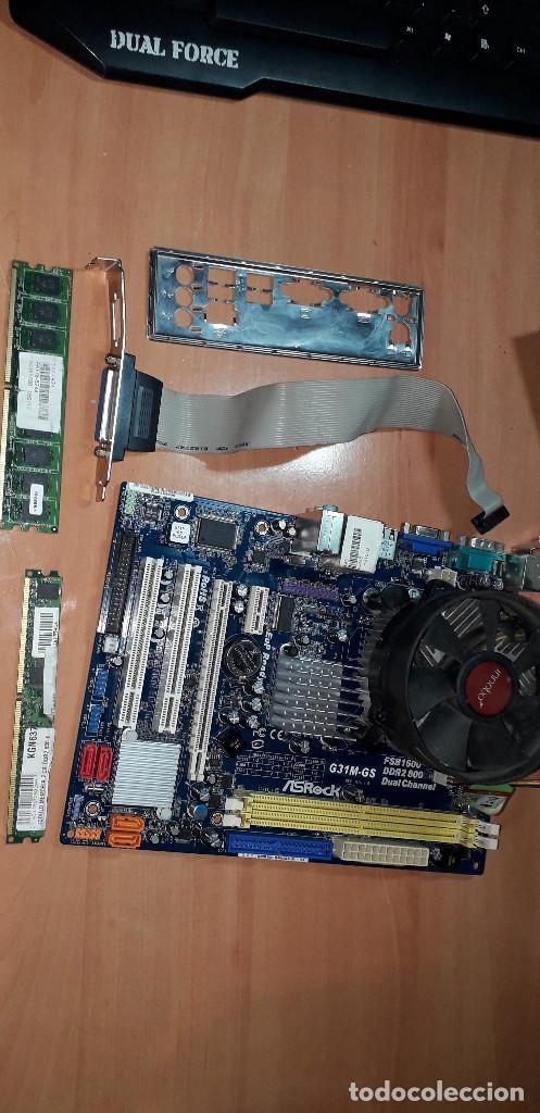 03-00182-PLACA ASROCK +MICRO DUAL CORE-MEMORIA 4 GB DDR2 (Juguetes - Videojuegos y Consolas - PC)