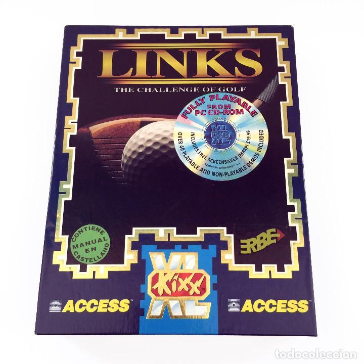 LINKS THE CHALLENGE OF GOLF EDICION ESPAÑOLA CAJA GRANDE ERBE SIMULADOR JUEGO DE ORDENADOR PC CD ROM (Juguetes - Videojuegos y Consolas - PC)