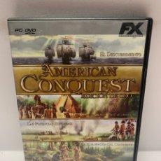 Jeux Vidéo et Consoles: PC 849 AMERICAN CONQEST EDICIÓN ORO JUEGOS PC SEGUNDA MANO. Lote 243989125