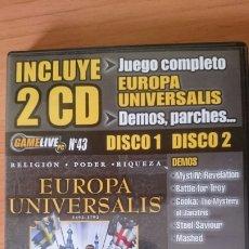 Videojuegos y Consolas: CD JUEGOS Y DEMOS REVISTA GAME LIVE NÚMERO 43, 2 CDS UBI SOFT. Lote 244014410