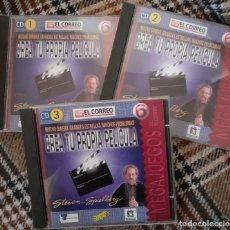 Videojuegos y Consolas: CREA TU PROPIA PELICULA CON STEVEN SPIELBERG - 3 CDS JUEGO PC WINDOWS 95. Lote 244839545