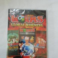 Videojuegos y Consolas: WORMS GLOBAL WORMING - PC - EDICION ESPAÑOLA - NUEVO Y PRECINTADO. Lote 244843225