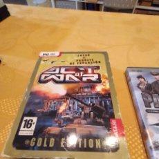 Videojuegos y Consolas: M-26 PC CDROM JUEGO PC ACT OF WAR JUEGO + PAQUETE DE EXPANSION. Lote 249076890