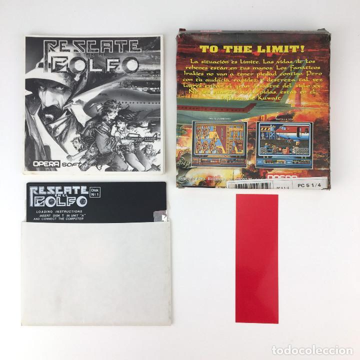 Videojuegos y Consolas: RESCATE EN EL GOLFO. OPERA SOFT TRUE ALFONSO AZPIRI 1991 DISKETTE 5¼ IBM MS DOS FLOPPY DISK JUEGO PC - Foto 2 - 253943975