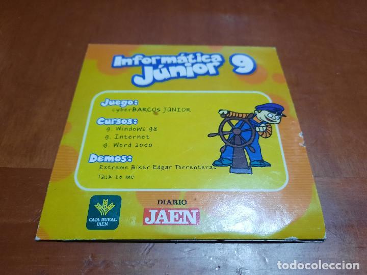 INFORMÁTICA JUNIOR 3, 7, 9. 3 CD-ROM EN CAJAS DE CARTÓN. BUEN ESTADO. ALGO DIFICIL DE CONSEGUIR (Juguetes - Videojuegos y Consolas - PC)