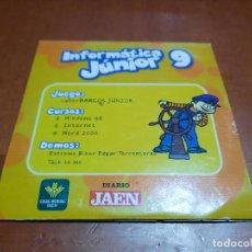 Videojuegos y Consolas: INFORMÁTICA JUNIOR 9. CD-ROM EN CAJA DE CARTÓN. BUEN ESTADO. ALGO DIFICIL DE CONSEGUIR. Lote 253955350