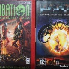 Videojuegos y Consolas: LOTE 2 JUEGOS PC INCUBATION Y EARH 2150 3D SE TE ESTA ACABANDO EL TIEMPO ESCAPE THE BLUE PLANET. Lote 254755360