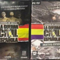 Videojuegos y Consolas: LOTE 2 SOMBRAS DE GUERRA: LA GUERRA CIVIL ESPAÑOLA PRECINTADO JUEGO PC EXPANSION OBJETIVO. Lote 254756385