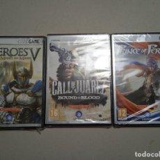 Videojuegos y Consolas: LOTE DE 3 JUEGOS PARA PC. PRECINTADOS. HEROES V - CALL OF JUAREZ - PRINCE OF PERSIA.. Lote 257380495
