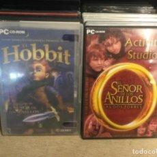 Videojuegos y Consolas: 8 JUEGOS PC-CD ROM-EL SEÑOR DE LOS ANILLOS -RISE OF NATIONS - CALL OF DUTY 4 - EL HOBBIT - ( PRO7). Lote 261261420