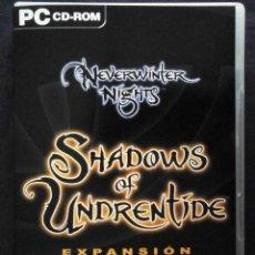 Videojuegos y Consolas: PC: NEVERWINTER NIGHTS. SHADOWS OF UNDRENTIDE + LAS HORDAS DE LA INFRAOSCURIDAD. 2 DISCOS.. Lote 261306420