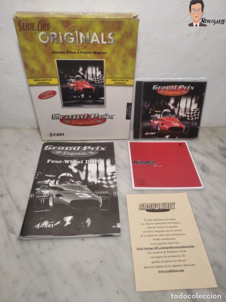 GRAND PRIX LEGENDS (1998) JUEGO PARA PC (ORDENADOR) CON CAJA Y MANUAL (SIERRA) F 1 COCHES CLÁSICOS (Juguetes - Videojuegos y Consolas - PC)