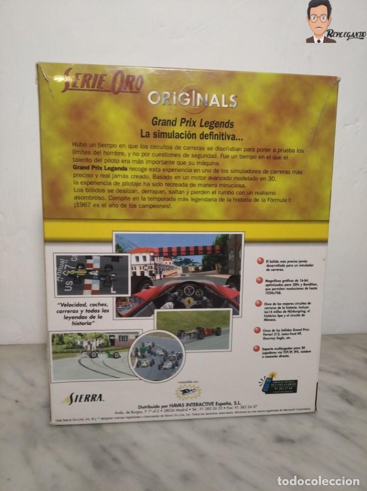 Videojuegos y Consolas: GRAND PRIX LEGENDS (1998) JUEGO PARA PC (ORDENADOR) CON CAJA Y MANUAL (SIERRA) F 1 COCHES CLÁSICOS - Foto 15 - 261856475