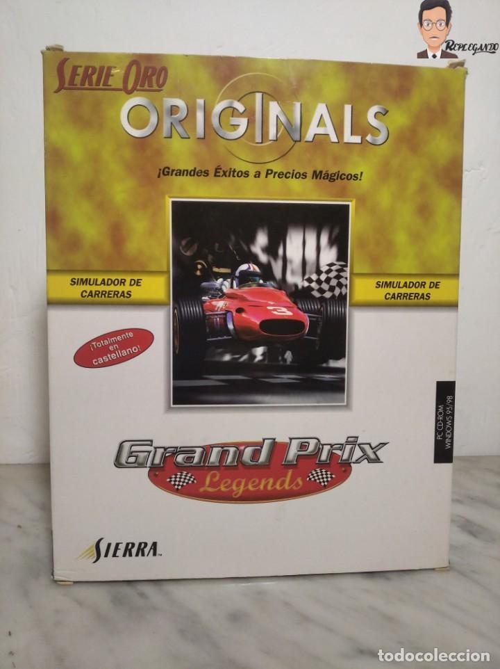 Videojuegos y Consolas: GRAND PRIX LEGENDS (1998) JUEGO PARA PC (ORDENADOR) CON CAJA Y MANUAL (SIERRA) F 1 COCHES CLÁSICOS - Foto 18 - 261856475