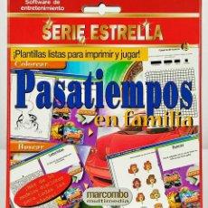 Videojuegos y Consolas: PASATIEMPOS EN FAMILIA SERIE ESTRELLA MARCOMBO MULTIMEDIA SOFTWARE DE ENTRETENIMIENTO. Lote 262620840
