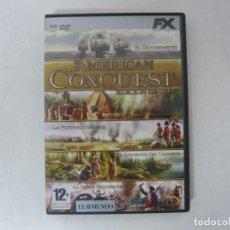 Videojuegos y Consolas: AMERICAN CONQUEST - EDICIÓN ORO / CAJA DVD / IBM PC / RETRO VINTAGE / CD - DVD. Lote 262933775