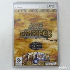 Videojuegos y Consolas: AGE OF EMPIRES - COLLECTOR EDITION / CAJA DVD / IBM PC / RETRO VINTAGE / CD - DVD. Lote 262934305