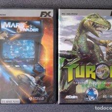 Videojuegos y Consolas: LOTE JUEGOS PC MARS INVADERS TUROK. Lote 263216200