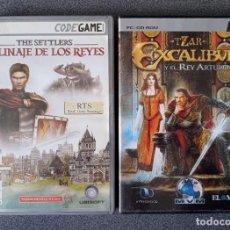 Videojuegos y Consolas: LOTE JUEGOS PC TZAR EXCALIBUR Y EL REY ARTURO THE SETTLERS EL LINAJE DE LOS REYES. Lote 263216255