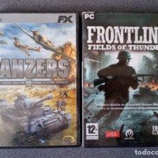 Videojuegos y Consolas: LOTE JUEGOS PC PANZERS II FRONTLINE. Lote 263216320