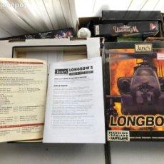 Videojogos e Consolas: LONGBOW 2 CAJA Y ALGUNOS MANUALES EN CASTELLANO PC CD ROM KREATEN. Lote 266590333