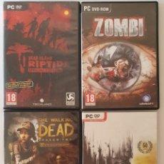 Videojuegos y Consolas: LOTE CUATRO JUEGOS PC ZOMBIS. Lote 270387178