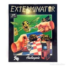 Videojuegos y Consolas: EXTERMINATOR SYSTEM 4 ESPAÑA AUDIOGENIC 1990 INSECTOS CHICAGO JUEGO FPS 3D IBM MS DOS PC DISKETTE 3½. Lote 273392833
