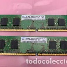 Videojuegos y Consolas: 4 DIMMS 256MB (1GB) DDR2 533MHZ PC-4200 (TODOS IDÉNTICOS). Lote 274879148