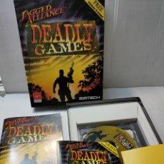 Videojuegos y Consolas: JUEGO PC DEADLY GAMES: DE SIRTECH VIRGIN COMPLETO EN CAJA ORIGINAL 1996. Lote 276045298