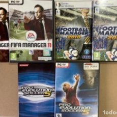 Jeux Vidéo et Consoles: LOTE 3 JUEGOS FÚTBOL PARA WINDOWS. MANAGER 2010, FIFA 2011 Y PROEVOLUTION SOCCER 5. Lote 276216568