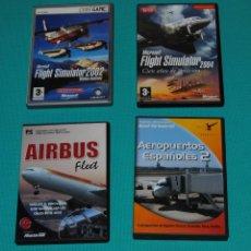 Videojuegos y Consolas: LOTE DE MICROSOF FLIGHT SIMULATOR. Lote 276412603
