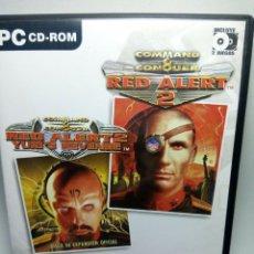 Videojuegos y Consolas: COMMAND & CONQUER RED ALERT 2 + RED ALERT 2 YURI'S REVENGE EXPANSION 2 JUEGOS DE PC. Lote 277646403