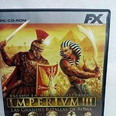 Videojuegos y Consolas: IMPERIUM LAS GRANDES BATALLAS DE ROMA PC. Lote 277648953