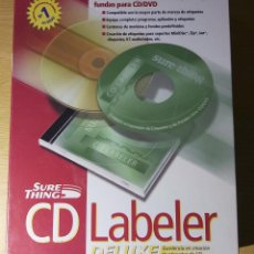 Videojuegos y Consolas: SURETHING CD LABERLER DELUXE - SOFTWARE PC - ETIQUETADOR DE CD. Lote 278570743