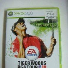 Videojuegos y Consolas: VIDEO JUEGO XBOX 360 TIGER WOODS PGA TOUR 10 CON SU LIBRILLO -(&). Lote 279466963