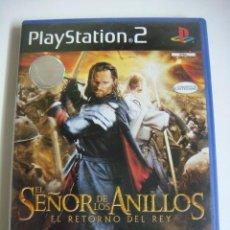 Videojuegos y Consolas: VIDEO JUEGO PLAYSTATION2 EL SEÑOR DE LOS ANILLOS EL RETORNO DEL REY SU LIBRILLO-(&). Lote 279467993