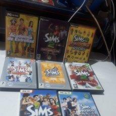 Videojuegos y Consolas: LOTE 8 JUEGOS LOS SIMS PARA PC COMPLETOS. Lote 279518748