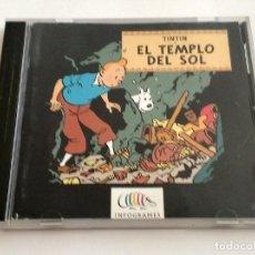 Videojuegos y Consolas: JUEGO TINTIN EL TEMPLO DEL SOL PC CD ROM INFOGRAMES AÑO 1997 MUY BUEN ESTADO CASTELLANO. Lote 279519723