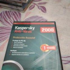 Videojuegos y Consolas: G-87 PC CDROM KASPERSKY ANTI-VIRUS 2009. Lote 279587708