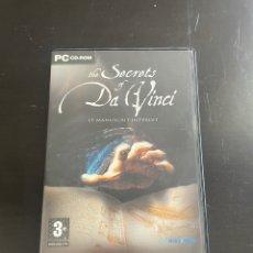Videojuegos y Consolas: THE SECRETS OF DA VINCI. Lote 280879948