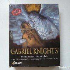 Videojuegos y Consolas: GABRIEL KNIGHT 3 - AVENTURA GRÁFICA / IBM PC / RETRO VINTAGE / DISKETTES. Lote 288075043