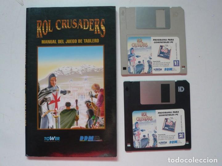 ROL CRUSADERS DE DDM, TOWER, RPG / IBM PC / RETRO VINTAGE / DISKETTES (Juguetes - Videojuegos y Consolas - PC)