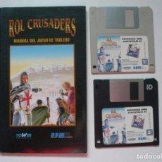 Videojuegos y Consolas: ROL CRUSADERS DE DDM, TOWER, RPG / IBM PC / RETRO VINTAGE / DISKETTES. Lote 288077423
