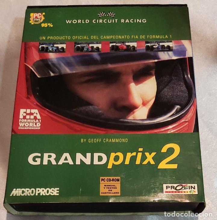 GRAND PRIX 2 JUEGO PC CAJA GRANDE -- SOLO CAJA E INSTRUCCIONES! (Juguetes - Videojuegos y Consolas - PC)