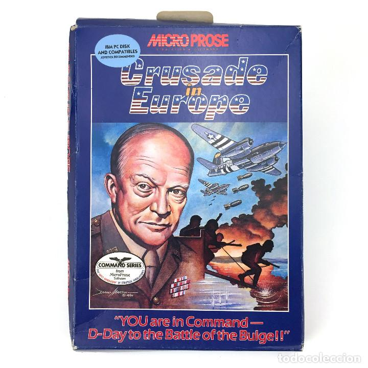 CRUSADE IN EUROPE MICROPROSE STRATEGY COMMAND SERIES JUEGO DISKETTE 5,25 FLOPPY DISK 5¼ IBM MSDOS PC (Juguetes - Videojuegos y Consolas - PC)