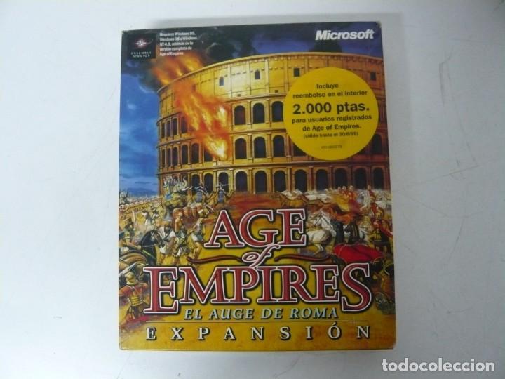 AGE OF EMPIRES - EL AUGE DE ROMA / IBM PC / RETRO VINTAGE / DISKETTES (Juguetes - Videojuegos y Consolas - PC)
