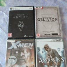Videojuegos y Consolas: LOTE DE 4 JUEGOS DE PC OBLIVION,SKYRIM,ASSASSIN´S,X-MEN LEGENDS II. Lote 288303743