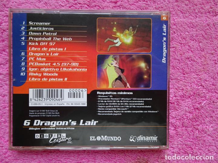 Videojuegos y Consolas: dragons lair dibujos animados interactivos video juegos para pc 6 colección el mundo 1998 - Foto 5 - 288532238